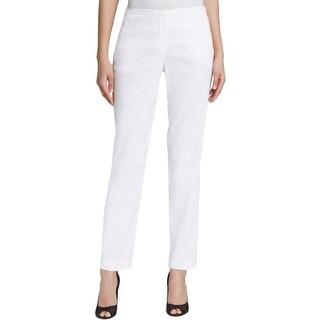 Elie Tahari Womens Jillian Dress Pants Linen Blend Flat Front