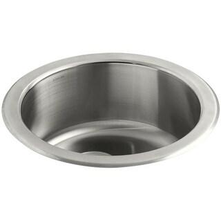 """Kohler K-3341 Undertone 18"""" Single Basin Under-Mount 18-Gauge Stainless Steel Kitchen Sink with SilentShield"""