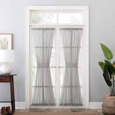 No. 918 Emily Voile Sheer Rod Pocket Door Curtain Panel, Single Panel