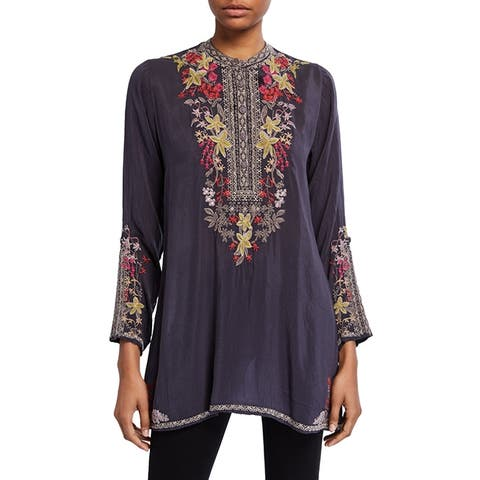Johnny Was Lilianna Gray Embroidered Tunic