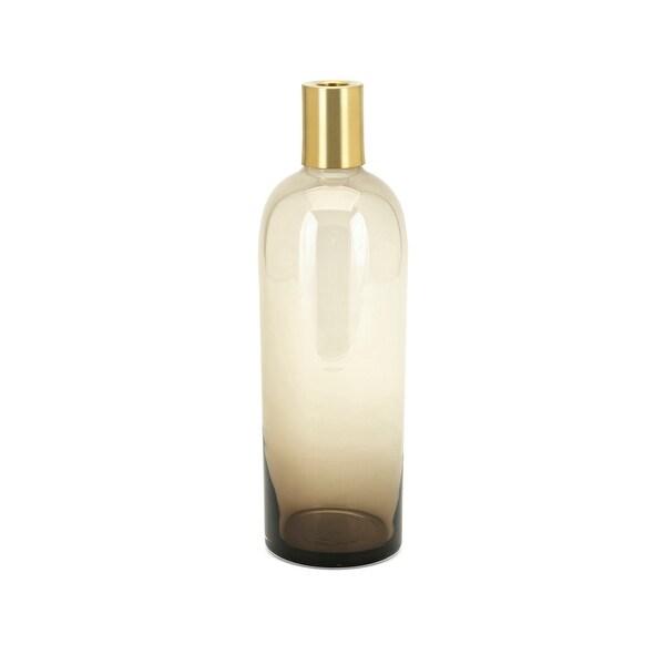 IMAX Home 40907 Nadine Medium Glass Vase - Gold