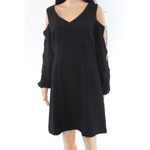MSK Black Embellished Cutout Sleeve Women's Size 6 Sheath Dress