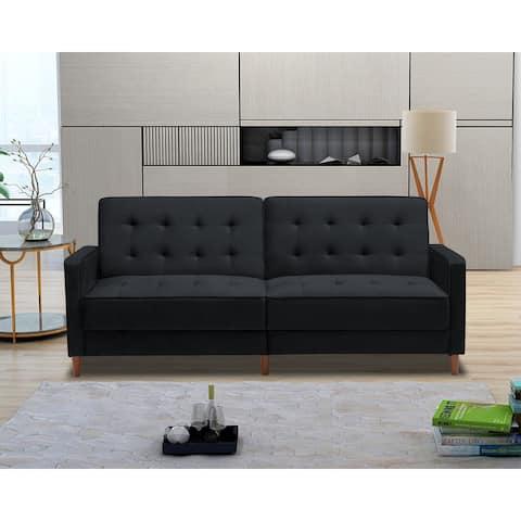 Nestfair Modern Velvet Upholstered Sofa Bed