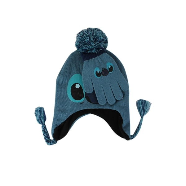 568a6481ab8 Shop Kids Cute Disney Lilo   Stitch Winter Beanie   Gloves - Free Shipping  On Orders Over  45 - Overstock - 26058429
