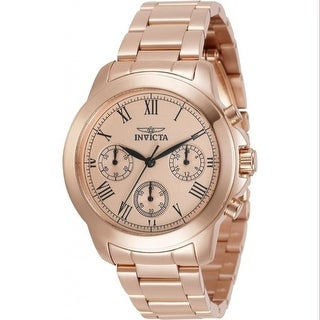 Link to Invicta Women's 34422 'Specialty' Rose-Tone Stainless Steel Watch Similar Items in Women's Watches