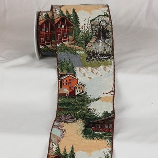 "Swiss St. Moritz Gobelin Tapestry Wired Craft Ribbon 6"" x 9 Yards"