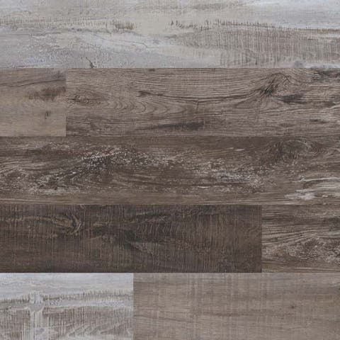"MSI VTR7X48-5MM-12MIL-BIR Cyrus 7-1/8"" Wide Waterproof Smooth Birch-Imitating Luxury Vinyl Planks - - Weathered Brina"
