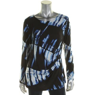 Calvin Klein Womens Blouse Tie-Dye Gathered
