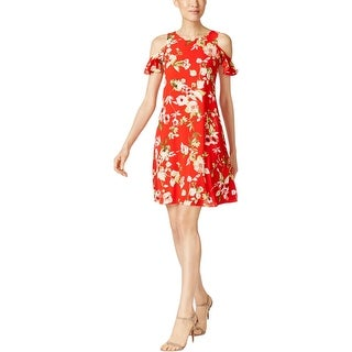 Jessica Howard Womens Wear to Work Dress Crepe Floral Print