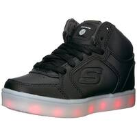 Kids Skechers Boys Energy Lights Low Top Lace Up Walking Shoes