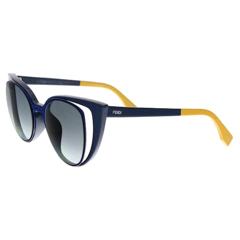 63f7f429ae FENDI 0136 S 0NY9- JJ Navy Blue Cat eye Sunglasses - 51-20