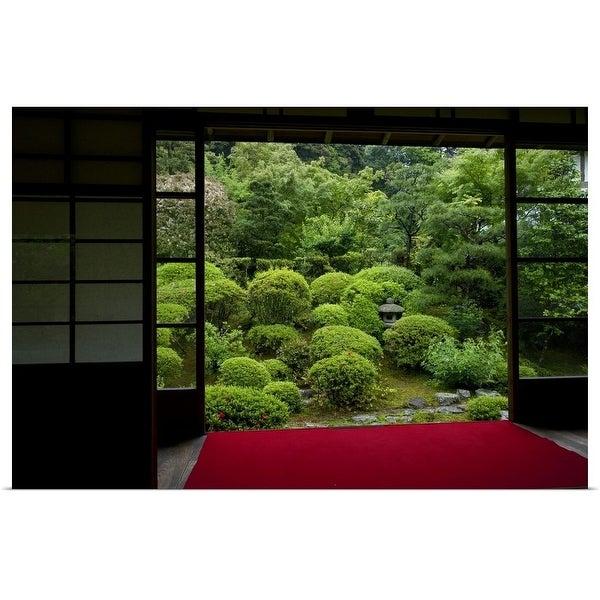 """Meditation view, Anraku-ji temple"" Poster Print"