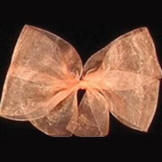"""Peach Organdy Craft Ribbon 3"""" x 55 Yards"""