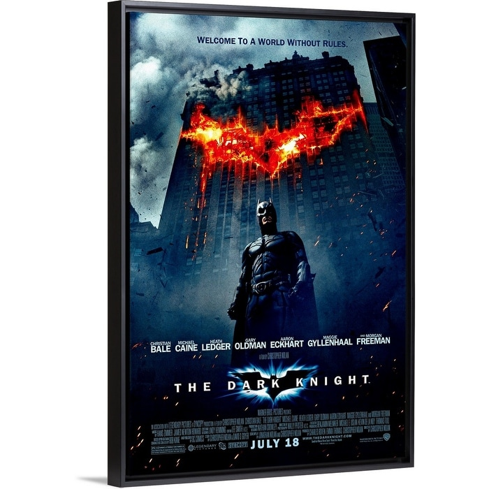 Shop The Dark Knight 2008 Black Float Frame Canvas Art Overstock 25518378