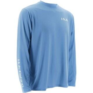 Huk Men's KC Scott Rising Sail Icon Carolina Blue XX-Large Long Sleeve
