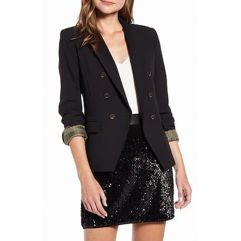 Bailey 44 Women's Blazer Black Size 2 Tuxedo Double-Breasted Notched