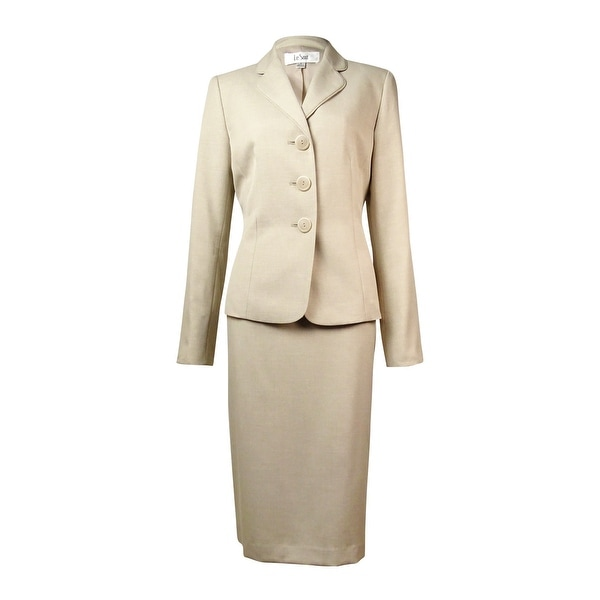 Le Suit Women's Country Club Skirt Suit - SAND