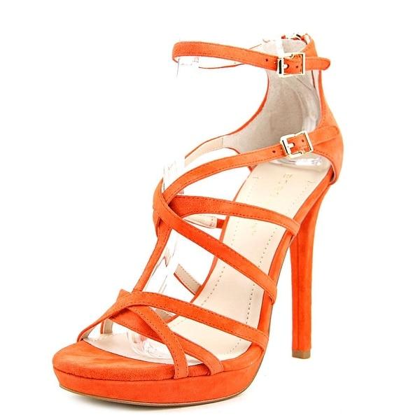 BCBGeneration Montie Women Open Toe Suede Orange Sandals