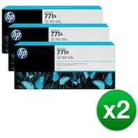 HP 771A 3-Cartridges 775-ml Light Gray DesignJet Ink Cartridges (B6Y46A) (2-Pack)