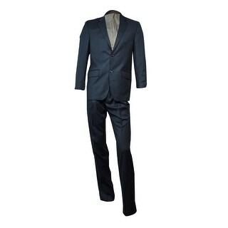 IZOD Men's Professional Notch Lapel Suit (Charcoal, 38R/31W) - Charcoal - 38 r/31w