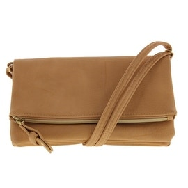 Stella & Max Womens Just What I Needed Faux Leather Crossbody Handbag - Nude - SMALL