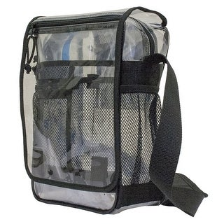 amaro transparent see-thru clear messenger bag