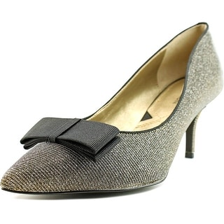 Adrienne Vittadini Siv Women Pointed Toe Leather Silver Heels