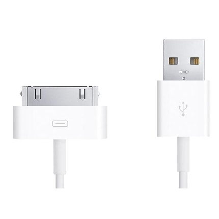 OEM Apple 30 Pin Dock Connector to USB Sync and Charging Cable for iPhone/iPad (