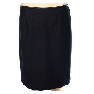 Calvin Klein NEW Black Womens Size 14P Petite Shimmer Stretch Knit Skirt