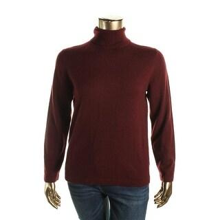 Anne Klein Womens Wool/Cashmere Blend Long Sleeves Turtleneck Sweater
