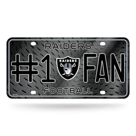 Oakland Raiders License Plate #1 Fan Alternate