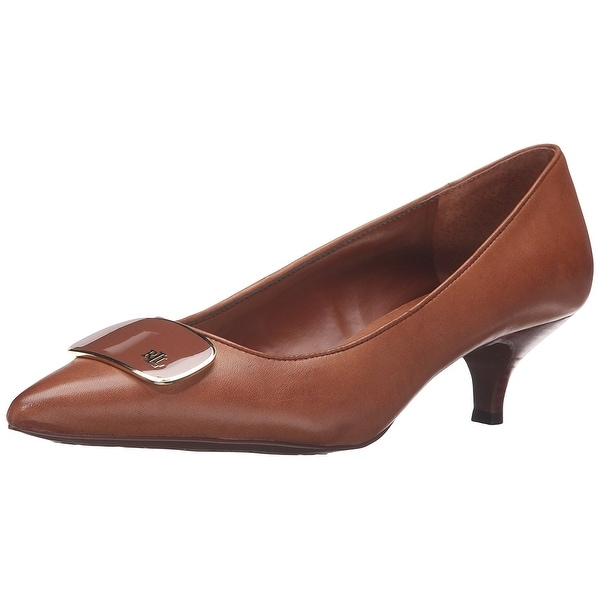 LAUREN by Ralph Lauren Womens Abina Leather Pointed Toe Classic Pumps