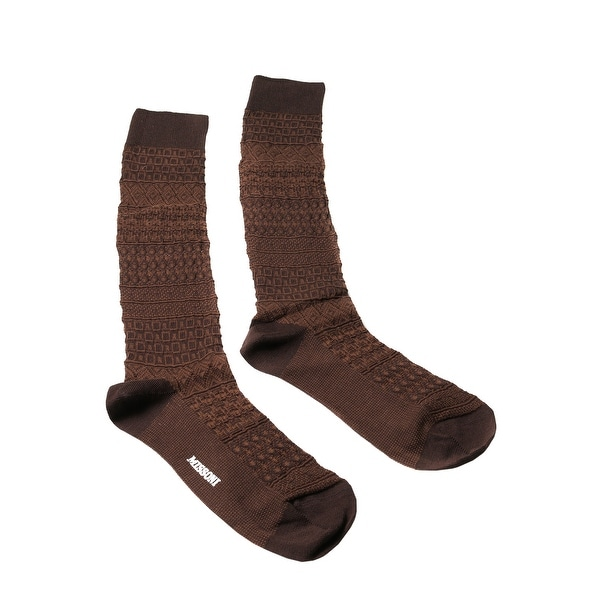 Missoni GM00CMU4655 0006 Brown/Black Knee Length Socks