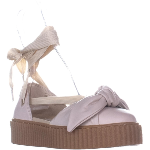 the best attitude 4f2e8 abd84 Puma Fenty Bow Creeper Sandal Flat Lace Up Sandals, Pink Tint - 9.5 US /  40.5 EU
