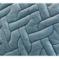 "G Home Collection Luxury Sky Blue Braid Textured Quilting Pillow 24""X24"" - Thumbnail 3"