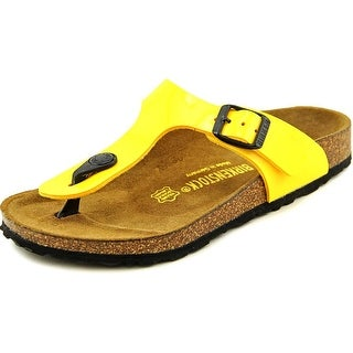 Birkenstock Gizeh Youth N Open Toe Synthetic Yellow Thong Sandal