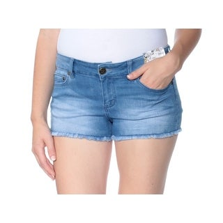 Womens Blue Casual Short Size 9