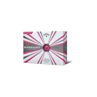 Callaway 2017 Supersoft Golf Balls (One Dozen)-Pink