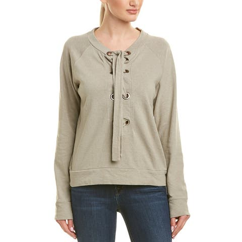 Monrow Lace-Up Top