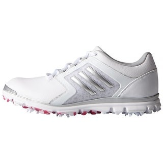Adidas Women's Adistar Tour White/Matte Silver/Raspberry Rose Golf Shoes F33300