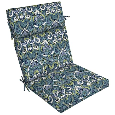 Arden Selections Sapphire Aurora Damask Dining Chair Cushion - 44 in L x 21 in W x 4.5 in H