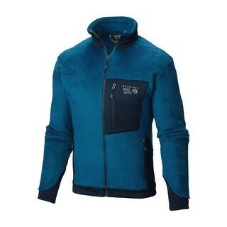 Mountain Hardwear Men's Phoenix Blue & Navy Monkey Man 200 Jacket Large L Fleece