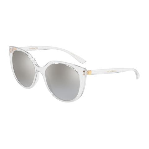 Dolce & Gabbana Butterfly DG6119 Women's Crystal Frame Grey Mirror Gradient Silver Lens Sunglasses