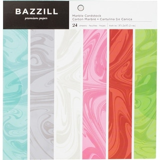 "Bazzill Basics Cardstock Pad 6""X6"" 24/Pkg-Marble"