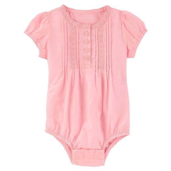 7e75ba33bf52 Shop OshKosh B gosh Baby Girls  Lace Pleated Bodysuit