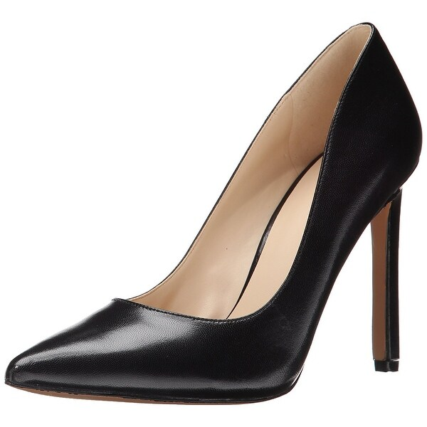 Nine West Womens Tatiana Leather Pointed Toe Classic Pumps