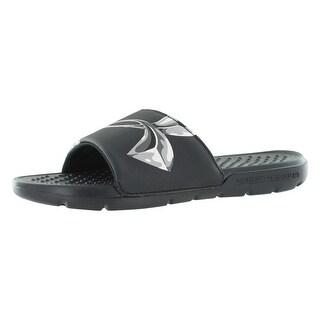 Under Armour Ua Strike Chrome Sl Sandals Junior's Shoes - 4 big kid m