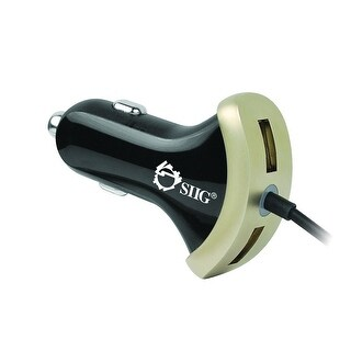 Siig 5A Tri-Output Usb Car Charger
