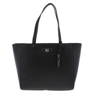 Jones New York Womens Madison Tote Handbag Faux Leather Casual - Large