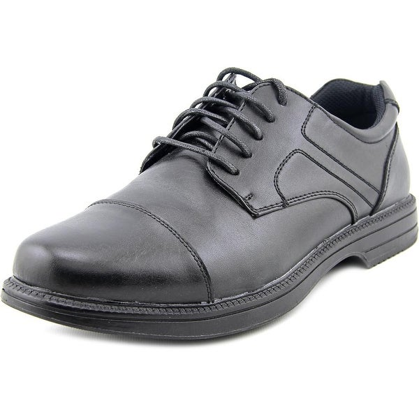 Deer Stags Nu Yorker Men  Round Toe Leather Black Oxford
